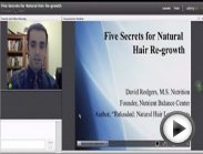 Hair Loss Natural Recovery Part 1 of 2 Omega 3 Omega 6 Essential