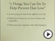 Hair Loss Solutions - FREE Tips