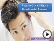 Premature gray hair natural home remedies treatment